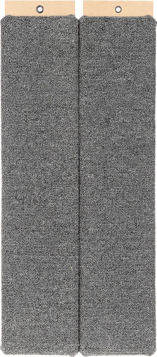 """Когтеточка """"Меридиан"""", настенная, угловая, цвет: серый, бежевый, коричневый, длина 68 см"""