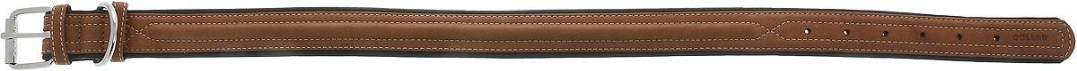 """Ошейник для собак """"CoLLaR SOFT"""", цвет: коричневый, ширина 3,5 см, обхват шеи 57-71 см"""