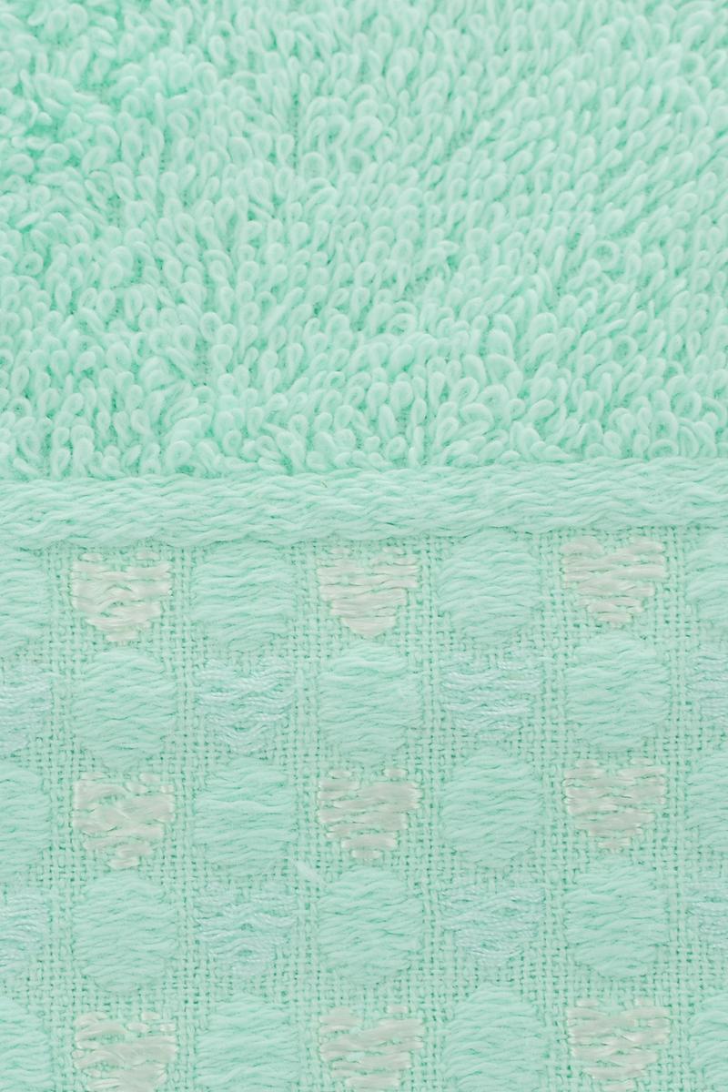 """Набор полотенец Tete-a-Tete """"Сердечки"""", цвет: бирюза, 50 х 90 см, 2 шт"""