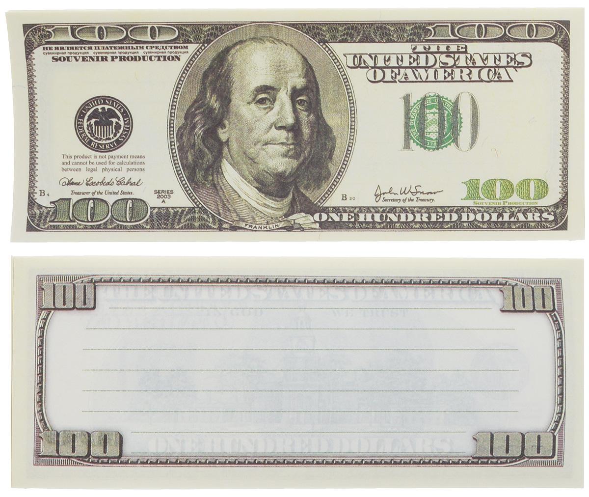 "Блокнот Эврика ""Пачка 100 долларов"", 90 листов"