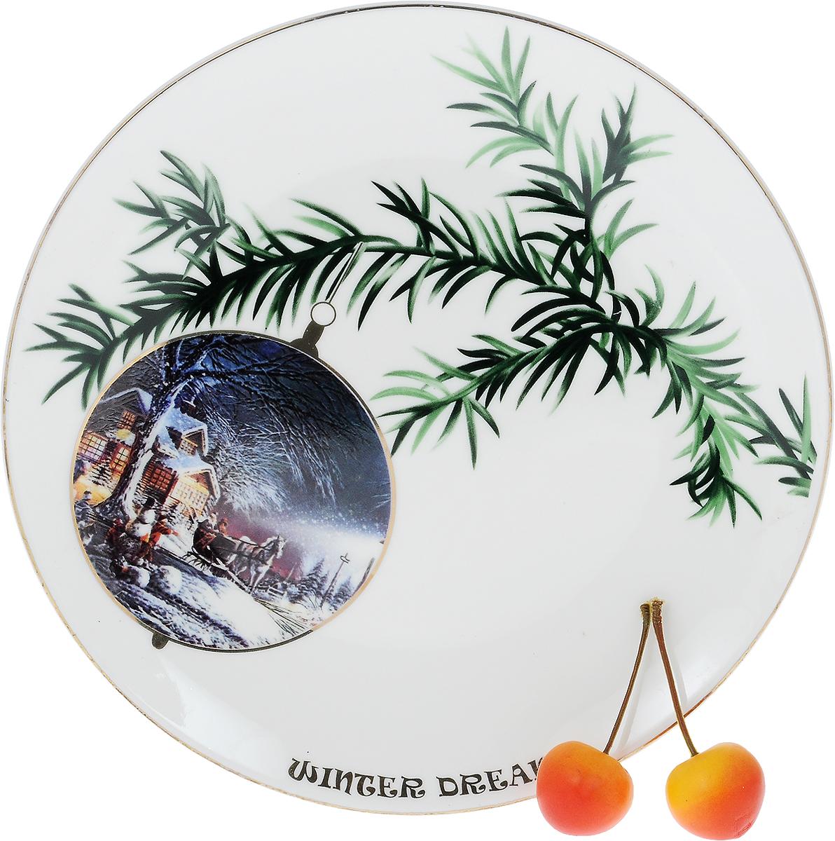 """Тарелка Lillo """"Winter Dream"""", диаметр 22,5 см. 2730316"""