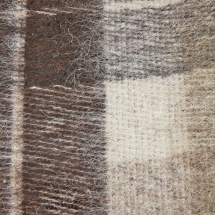 "Плед ""Пиросмани"", цвет: бежевый, темно-коричневый, 170 х 200 см. 1-207-170_03"