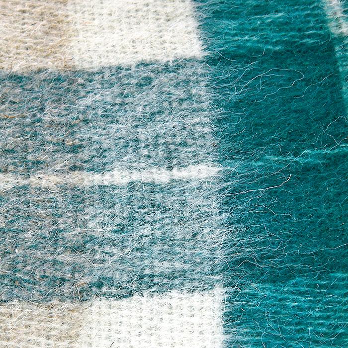 "Плед ""Страдивари"", цвет: бежевый, зеленый, 140 х 200 см. 1-202-140_03"