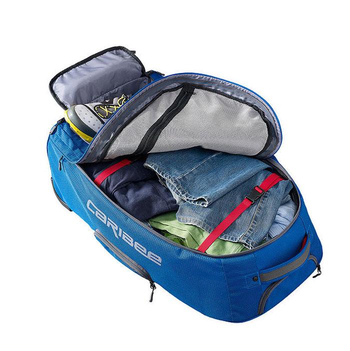"""Рюкзак для путешествийествий Caribee """"Europa"""", цвет: голубой, 75 л"""
