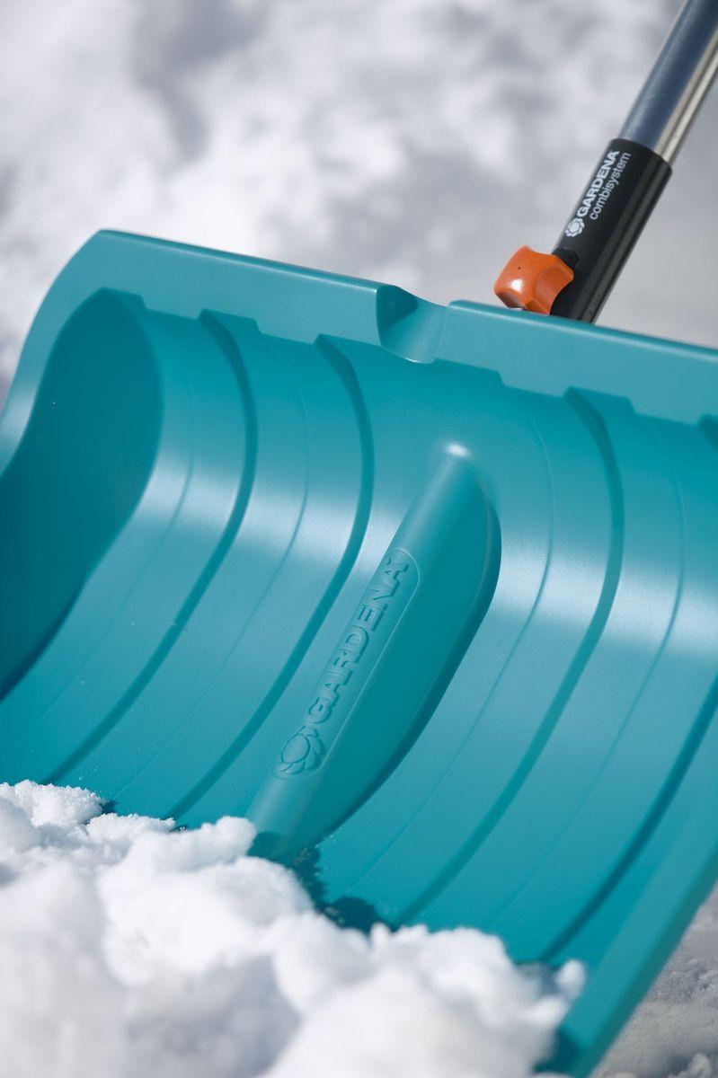 """Комплект Gardena: рукоятка деревянная """"FSC"""", 150 см (03725-20.000.00), лопата для уборки снега, 50 см, с кромкой из нержавеющей стали (03243-20.000.00)"""
