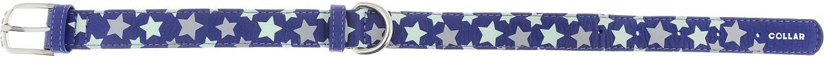 """Ошейник для собак CoLLaR Glamour """"Звездочка"""", цвет: фиолетовый, ширина 2,5 см, обхват шеи 38-49 см"""