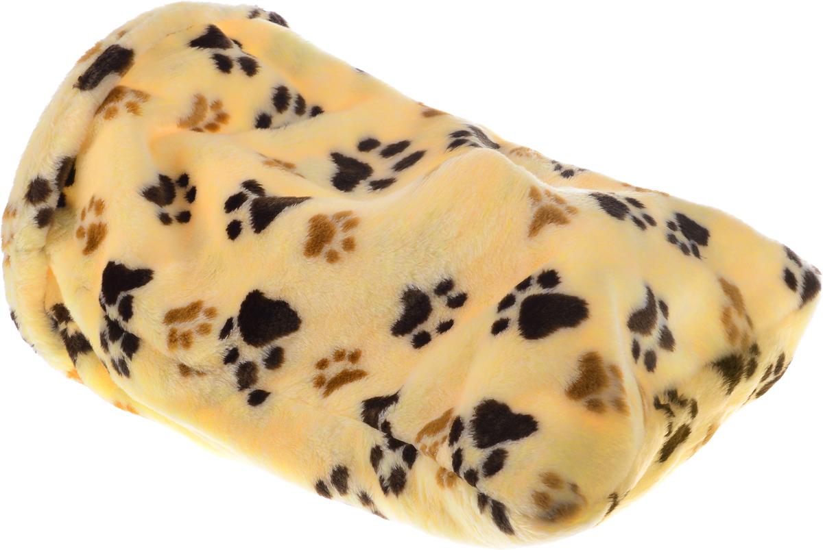 """Лежак для животных Elite Valley """"Мешок"""", большой, цвет: бежевый, черный, коричневый, 30 х 30 х 60 см"""
