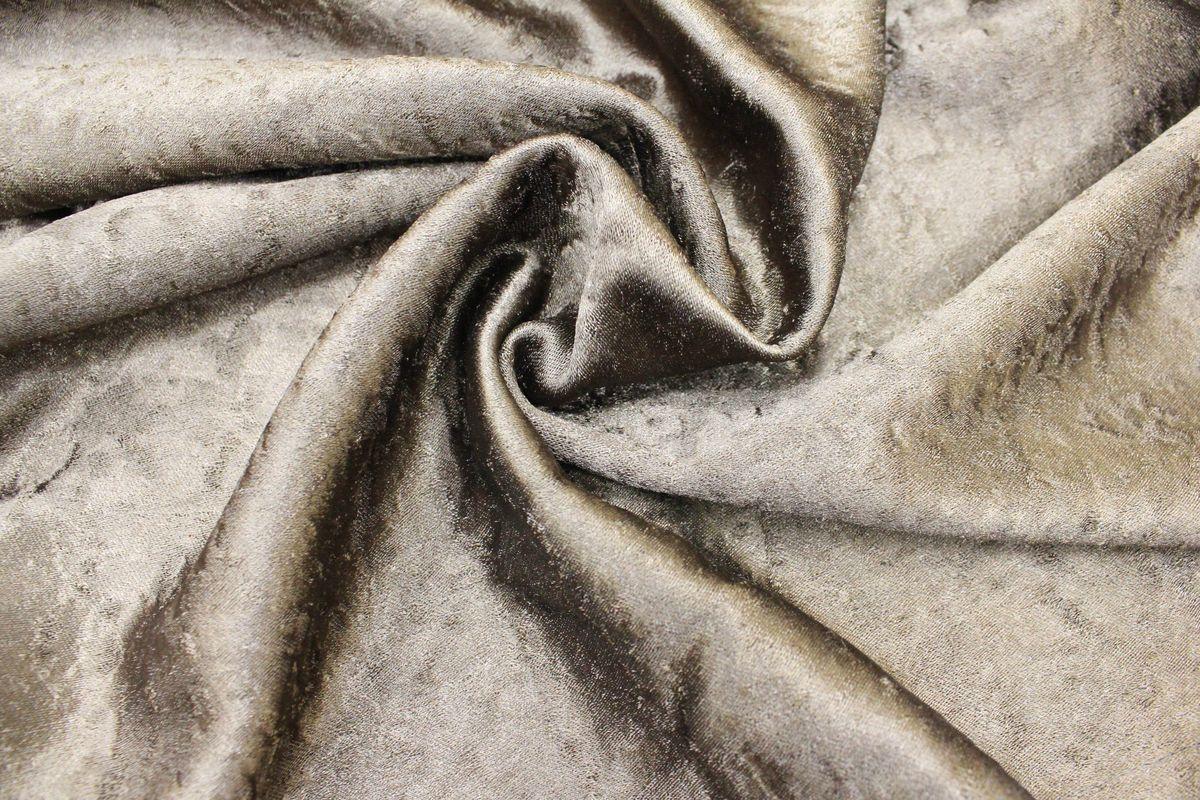 """Комплект штор Amore Mio """"Софт-шелк"""", на ленте, цвет: коричневый, высота 270 см, 2 шт"""
