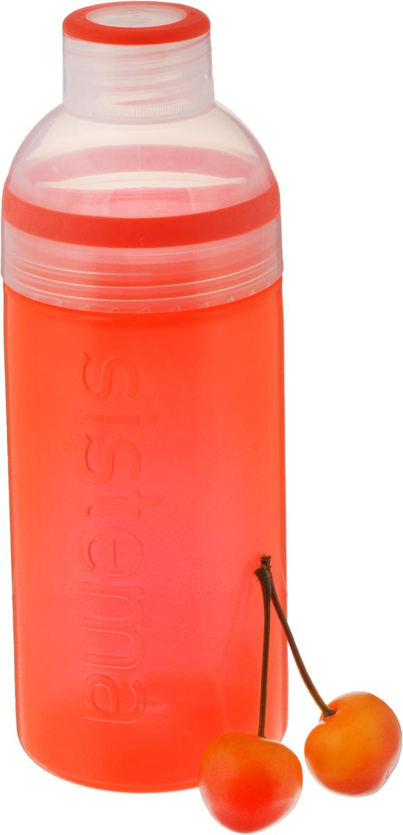 """Питьевая бутылка Sistema """"Trio"""", цвет: оранжевый, 580 мл"""