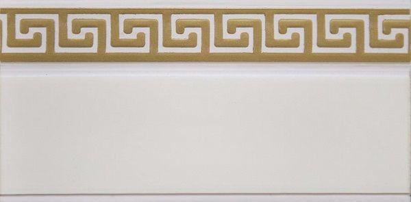 """Багет Эскар """"Золото Греция"""", цвет: белая подложка, золотистый, 5 см х 240 см"""