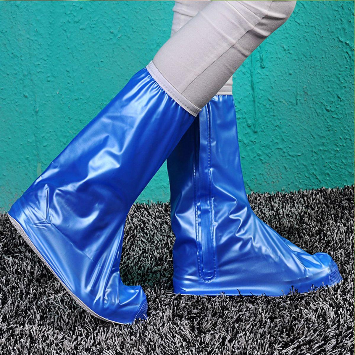 Дождевик для сапог Homsu, цвет: голубой. Размер L (39/41)R-132Дожевики для сапог выполнены из прочного водонепроницаемого материала, застегиваются на молнию. Благодаря этим дождевикам ваша обувь будет сухой и чистой в любую погоду! Размер изделия: 27,5х13см