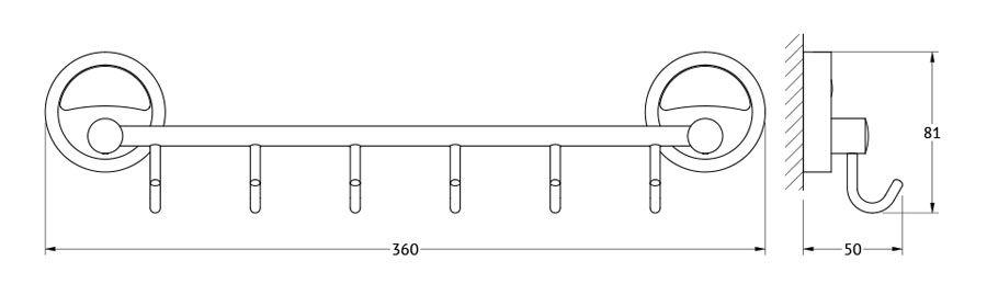 Штанга для полотенца FBS Ellea, с 6-ю крючками, 35 см, цвет: хром. ELL 027ELL 027Аксессуары торговой марки FBS производятся на заводе ELLUX Gluck s.r.o., имеющем 20-летний опыт работы. Предприятие расположено в Злинском крае, исторически знаменитом своим промышленным потенциалом. Компоненты из всемирно известного богемского хрусталя выгодно дополняют серии аксессуаров. Широкий ассортимент, разнообразие форм, высочайшее качество исполнения и техническое?совершенство продукции отвечают самым высоким требованиям. Продукция FBS представлена на российском рынке уже более 10 лет и за это время успела завоевать заслуженную популярность у покупателей, отдающих предпочтение дорогой и качественной продукции.