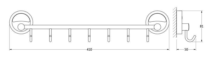 Штанга для полотенца FBS Ellea, с 7-ю крючками, 40 см, цвет: хром. ELL 028ELL 028Аксессуары торговой марки FBS производятся на заводе ELLUX Gluck s.r.o., имеющем 20-летний опыт работы. Предприятие расположено в Злинском крае, исторически знаменитом своим промышленным потенциалом. Компоненты из всемирно известного богемского хрусталя выгодно дополняют серии аксессуаров. Широкий ассортимент, разнообразие форм, высочайшее качество исполнения и техническое?совершенство продукции отвечают самым высоким требованиям. Продукция FBS представлена на российском рынке уже более 10 лет и за это время успела завоевать заслуженную популярность у покупателей, отдающих предпочтение дорогой и качественной продукции.