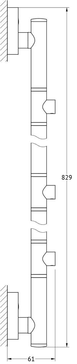 Штанга для полотенца FBS Ellea, для 3-х аксессуаров, 82 см, цвет: хром. ELL 075ELL 075Аксессуары торговой марки FBS производятся на заводе ELLUX Gluck s.r.o., имеющем 20-летний опыт работы. Предприятие расположено в Злинском крае, исторически знаменитом своим промышленным потенциалом. Компоненты из всемирно известного богемского хрусталя выгодно дополняют серии аксессуаров. Широкий ассортимент, разнообразие форм, высочайшее качество исполнения и техническое?совершенство продукции отвечают самым высоким требованиям. Продукция FBS представлена на российском рынке уже более 10 лет и за это время успела завоевать заслуженную популярность у покупателей, отдающих предпочтение дорогой и качественной продукции.