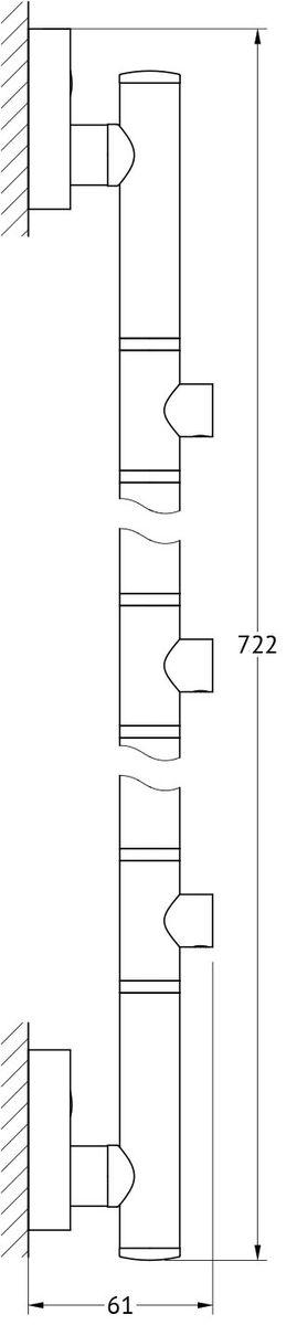 Штанга для полотенца FBS Ellea, для 3-х аксессуаров, 71 см, цвет: хром. ELL 078ELL 078Аксессуары торговой марки FBS производятся на заводе ELLUX Gluck s.r.o., имеющем 20-летний опыт работы. Предприятие расположено в Злинском крае, исторически знаменитом своим промышленным потенциалом. Компоненты из всемирно известного богемского хрусталя выгодно дополняют серии аксессуаров. Широкий ассортимент, разнообразие форм, высочайшее качество исполнения и техническое?совершенство продукции отвечают самым высоким требованиям. Продукция FBS представлена на российском рынке уже более 10 лет и за это время успела завоевать заслуженную популярность у покупателей, отдающих предпочтение дорогой и качественной продукции.
