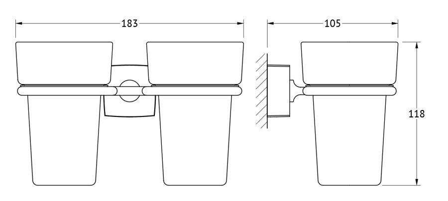 Держатель с 2-мя стаканами FBS Esperado, цвет: хром. ESP 007ESP 007Аксессуары торговой марки FBS производятся на заводе ELLUX Gluck s.r.o., имеющем 20-летний опыт работы. Предприятие расположено в Злинском крае, исторически знаменитом своим промышленным потенциалом. Компоненты из всемирно известного богемского хрусталя выгодно дополняют серии аксессуаров. Широкий ассортимент, разнообразие форм, высочайшее качество исполнения и техническое?совершенство продукции отвечают самым высоким требованиям. Продукция FBS представлена на российском рынке уже более 10 лет и за это время успела завоевать заслуженную популярность у покупателей, отдающих предпочтение дорогой и качественной продукции.