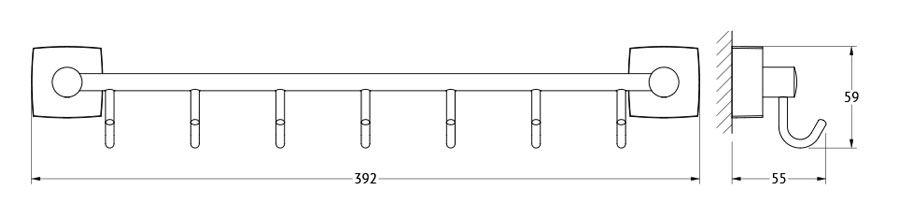 Штанга для полотенца FBS Esperado, с 7-ю крючками, 40 см, цвет: хром. ESP 028ESP 028Аксессуары торговой марки FBS производятся на заводе ELLUX Gluck s.r.o., имеющем 20-летний опыт работы. Предприятие расположено в Злинском крае, исторически знаменитом своим промышленным потенциалом. Компоненты из всемирно известного богемского хрусталя выгодно дополняют серии аксессуаров. Широкий ассортимент, разнообразие форм, высочайшее качество исполнения и техническое?совершенство продукции отвечают самым высоким требованиям. Продукция FBS представлена на российском рынке уже более 10 лет и за это время успела завоевать заслуженную популярность у покупателей, отдающих предпочтение дорогой и качественной продукции.