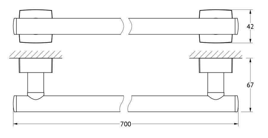 Штанга для полотенца FBS Esperado, 70 см, цвет: хром. ESP 033ESP 033Аксессуары торговой марки FBS производятся на заводе ELLUX Gluck s.r.o., имеющем 20-летний опыт работы. Предприятие расположено в Злинском крае, исторически знаменитом своим промышленным потенциалом. Компоненты из всемирно известного богемского хрусталя выгодно дополняют серии аксессуаров. Широкий ассортимент, разнообразие форм, высочайшее качество исполнения и техническое?совершенство продукции отвечают самым высоким требованиям. Продукция FBS представлена на российском рынке уже более 10 лет и за это время успела завоевать заслуженную популярность у покупателей, отдающих предпочтение дорогой и качественной продукции.