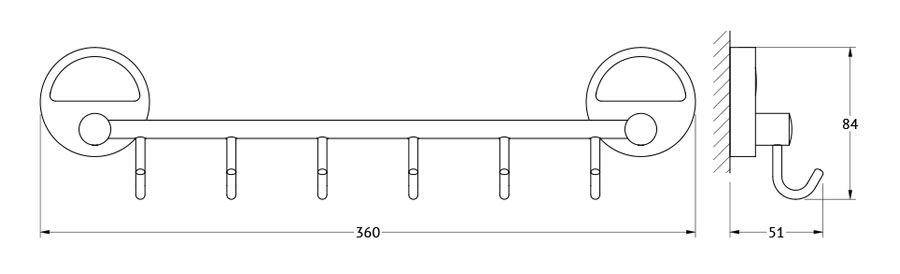 Штанга для полотенца FBS Luxia, с 6-ю крючками, 35 см, цвет: хром. LUX 027LUX 027Аксессуары торговой марки FBS производятся на заводе ELLUX Gluck s.r.o., имеющем 20-летний опыт работы. Предприятие расположено в Злинском крае, исторически знаменитом своим промышленным потенциалом. Компоненты из всемирно известного богемского хрусталя выгодно дополняют серии аксессуаров. Широкий ассортимент, разнообразие форм, высочайшее качество исполнения и техническое?совершенство продукции отвечают самым высоким требованиям. Продукция FBS представлена на российском рынке уже более 10 лет и за это время успела завоевать заслуженную популярность у покупателей, отдающих предпочтение дорогой и качественной продукции.