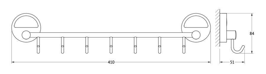 Штанга для полотенца FBS Luxia, с 7-ю крючками, 40 см, цвет: хром. LUX 028LUX 028Аксессуары торговой марки FBS производятся на заводе ELLUX Gluck s.r.o., имеющем 20-летний опыт работы. Предприятие расположено в Злинском крае, исторически знаменитом своим промышленным потенциалом. Компоненты из всемирно известного богемского хрусталя выгодно дополняют серии аксессуаров. Широкий ассортимент, разнообразие форм, высочайшее качество исполнения и техническое?совершенство продукции отвечают самым высоким требованиям. Продукция FBS представлена на российском рынке уже более 10 лет и за это время успела завоевать заслуженную популярность у покупателей, отдающих предпочтение дорогой и качественной продукции.