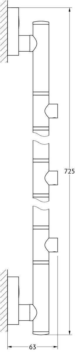 Штанга для 3-х аксессуаров FBS Luxia, 71 см, цвет: хром. LUX 078LUX 078Аксессуары торговой марки FBS производятся на заводе ELLUX Gluck s.r.o., имеющем 20-летний опыт работы. Предприятие расположено в Злинском крае, исторически знаменитом своим промышленным потенциалом. Компоненты из всемирно известного богемского хрусталя выгодно дополняют серии аксессуаров. Широкий ассортимент, разнообразие форм, высочайшее качество исполнения и техническое?совершенство продукции отвечают самым высоким требованиям. Продукция FBS представлена на российском рынке уже более 10 лет и за это время успела завоевать заслуженную популярность у покупателей, отдающих предпочтение дорогой и качественной продукции.