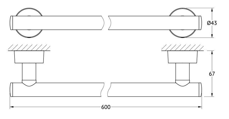 Штанга для полотенца FBS Nostalgy, 60 см, цвет: хром. NOS 032NOS 032Аксессуары торговой марки FBS производятся на заводе ELLUX Gluck s.r.o., имеющем 20-летний опыт работы. Предприятие расположено в Злинском крае, исторически знаменитом своим промышленным потенциалом. Компоненты из всемирно известного богемского хрусталя выгодно дополняют серии аксессуаров. Широкий ассортимент, разнообразие форм, высочайшее качество исполнения и техническое?совершенство продукции отвечают самым высоким требованиям. Продукция FBS представлена на российском рынке уже более 10 лет и за это время успела завоевать заслуженную популярность у покупателей, отдающих предпочтение дорогой и качественной продукции.