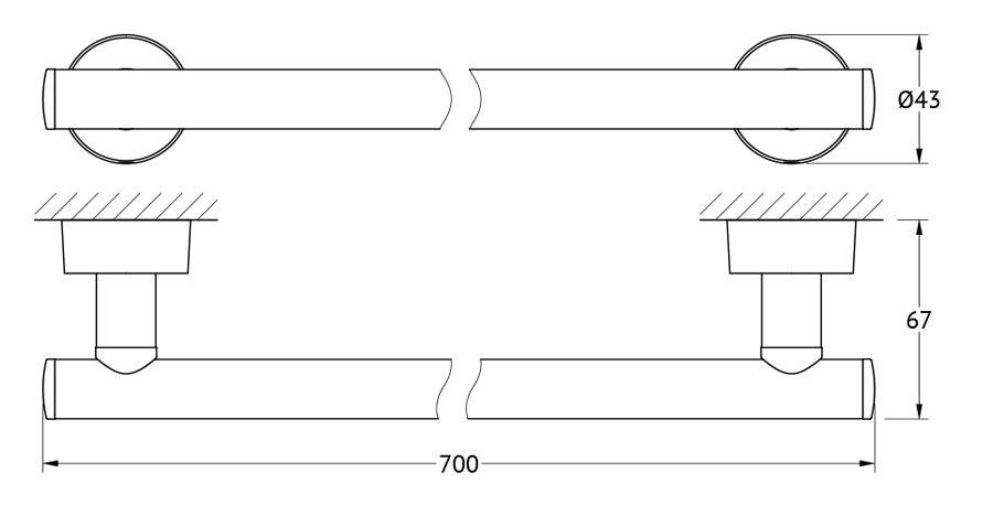 Штанга для полотенца FBS Nostalgy, 70 см, цвет: хром. NOS 033NOS 033Аксессуары торговой марки FBS производятся на заводе ELLUX Gluck s.r.o., имеющем 20-летний опыт работы. Предприятие расположено в Злинском крае, исторически знаменитом своим промышленным потенциалом. Компоненты из всемирно известного богемского хрусталя выгодно дополняют серии аксессуаров. Широкий ассортимент, разнообразие форм, высочайшее качество исполнения и техническое?совершенство продукции отвечают самым высоким требованиям. Продукция FBS представлена на российском рынке уже более 10 лет и за это время успела завоевать заслуженную популярность у покупателей, отдающих предпочтение дорогой и качественной продукции.