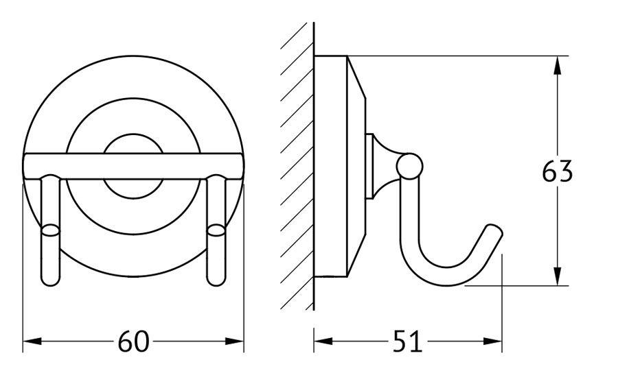 Крючок для ванной FBS Standard, двойной, цвет: хром. STA 002STA 002Аксессуары торговой марки FBS производятся на заводе ELLUX Gluck s.r.o., имеющем 20-летний опыт работы. Предприятие расположено в Злинском крае, исторически знаменитом своим промышленным потенциалом. Компоненты из всемирно известного богемского хрусталя выгодно дополняют серии аксессуаров. Широкий ассортимент, разнообразие форм, высочайшее качество исполнения и техническое?совершенство продукции отвечают самым высоким требованиям. Продукция FBS представлена на российском рынке уже более 10 лет и за это время успела завоевать заслуженную популярность у покупателей, отдающих предпочтение дорогой и качественной продукции.
