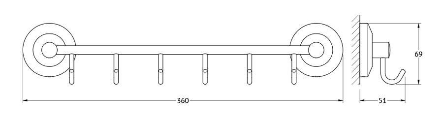 Штанга для полотенца FBS Standard, с 6-ю крючками, 35 см, цвет: хром. STA 027STA 027Аксессуары торговой марки FBS производятся на заводе ELLUX Gluck s.r.o., имеющем 20-летний опыт работы. Предприятие расположено в Злинском крае, исторически знаменитом своим промышленным потенциалом. Компоненты из всемирно известного богемского хрусталя выгодно дополняют серии аксессуаров. Широкий ассортимент, разнообразие форм, высочайшее качество исполнения и техническое?совершенство продукции отвечают самым высоким требованиям. Продукция FBS представлена на российском рынке уже более 10 лет и за это время успела завоевать заслуженную популярность у покупателей, отдающих предпочтение дорогой и качественной продукции.