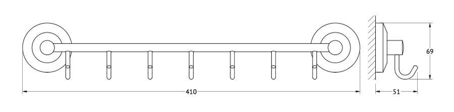 Штанга для полотенца FBS Standard, с 7-ю крючками, 40 см, цвет: хром. STA 028STA 028Аксессуары торговой марки FBS производятся на заводе ELLUX Gluck s.r.o., имеющем 20-летний опыт работы. Предприятие расположено в Злинском крае, исторически знаменитом своим промышленным потенциалом. Компоненты из всемирно известного богемского хрусталя выгодно дополняют серии аксессуаров. Широкий ассортимент, разнообразие форм, высочайшее качество исполнения и техническое?совершенство продукции отвечают самым высоким требованиям. Продукция FBS представлена на российском рынке уже более 10 лет и за это время успела завоевать заслуженную популярность у покупателей, отдающих предпочтение дорогой и качественной продукции.