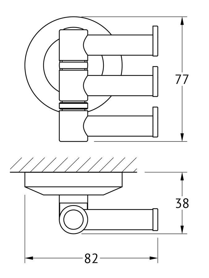Крючок для ванной FBS Standard, поворотный, тройной, цвет: хром. STA 047STA 047Аксессуары торговой марки FBS производятся на заводе ELLUX Gluck s.r.o., имеющем 20-летний опыт работы. Предприятие расположено в Злинском крае, исторически знаменитом своим промышленным потенциалом. Компоненты из всемирно известного богемского хрусталя выгодно дополняют серии аксессуаров. Широкий ассортимент, разнообразие форм, высочайшее качество исполнения и техническое?совершенство продукции отвечают самым высоким требованиям. Продукция FBS представлена на российском рынке уже более 10 лет и за это время успела завоевать заслуженную популярность у покупателей, отдающих предпочтение дорогой и качественной продукции.