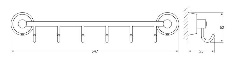 Штанга для полотенца FBS Vizovice, с 6-ю крючками, 35 см, цвет: хром. VIZ 027VIZ 027Аксессуары торговой марки FBS производятся на заводе ELLUX Gluck s.r.o., имеющем 20-летний опыт работы. Предприятие расположено в Злинском крае, исторически знаменитом своим промышленным потенциалом. Компоненты из всемирно известного богемского хрусталя выгодно дополняют серии аксессуаров. Широкий ассортимент, разнообразие форм, высочайшее качество исполнения и техническое?совершенство продукции отвечают самым высоким требованиям. Продукция FBS представлена на российском рынке уже более 10 лет и за это время успела завоевать заслуженную популярность у покупателей, отдающих предпочтение дорогой и качественной продукции.