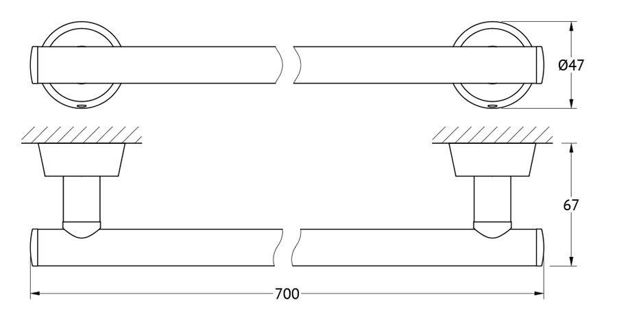 Штанга для полотенца FBS Vizovice, 70 см, цвет: хром. VIZ 033VIZ 033Аксессуары торговой марки FBS производятся на заводе ELLUX Gluck s.r.o., имеющем 20-летний опыт работы. Предприятие расположено в Злинском крае, исторически знаменитом своим промышленным потенциалом. Компоненты из всемирно известного богемского хрусталя выгодно дополняют серии аксессуаров. Широкий ассортимент, разнообразие форм, высочайшее качество исполнения и техническое?совершенство продукции отвечают самым высоким требованиям. Продукция FBS представлена на российском рынке уже более 10 лет и за это время успела завоевать заслуженную популярность у покупателей, отдающих предпочтение дорогой и качественной продукции.