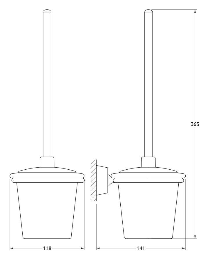 Держатель с туалетным ершом с крышкой FBS Vizovice, цвет: хром. VIZ 057VIZ 057Аксессуары торговой марки FBS производятся на заводе ELLUX Gluck s.r.o., имеющем 20-летний опыт работы. Предприятие расположено в Злинском крае, исторически знаменитом своим промышленным потенциалом. Компоненты из всемирно известного богемского хрусталя выгодно дополняют серии аксессуаров. Широкий ассортимент, разнообразие форм, высочайшее качество исполнения и техническое?совершенство продукции отвечают самым высоким требованиям. Продукция FBS представлена на российском рынке уже более 10 лет и за это время успела завоевать заслуженную популярность у покупателей, отдающих предпочтение дорогой и качественной продукции.
