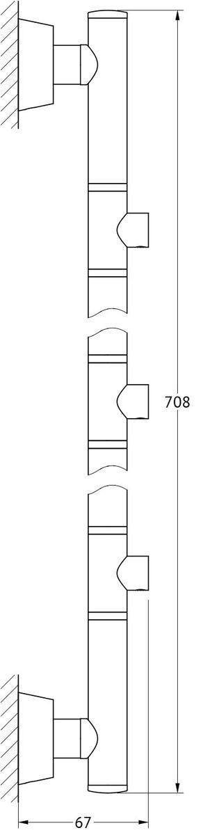 Штанга для полотенца FBS Vizovice, для 3-х аксессуаров, 71 см, цвет: хром. VIZ 078VIZ 078Аксессуары торговой марки FBS производятся на заводе ELLUX Gluck s.r.o., имеющем 20-летний опыт работы. Предприятие расположено в Злинском крае, исторически знаменитом своим промышленным потенциалом. Компоненты из всемирно известного богемского хрусталя выгодно дополняют серии аксессуаров. Широкий ассортимент, разнообразие форм, высочайшее качество исполнения и техническое?совершенство продукции отвечают самым высоким требованиям. Продукция FBS представлена на российском рынке уже более 10 лет и за это время успела завоевать заслуженную популярность у покупателей, отдающих предпочтение дорогой и качественной продукции.