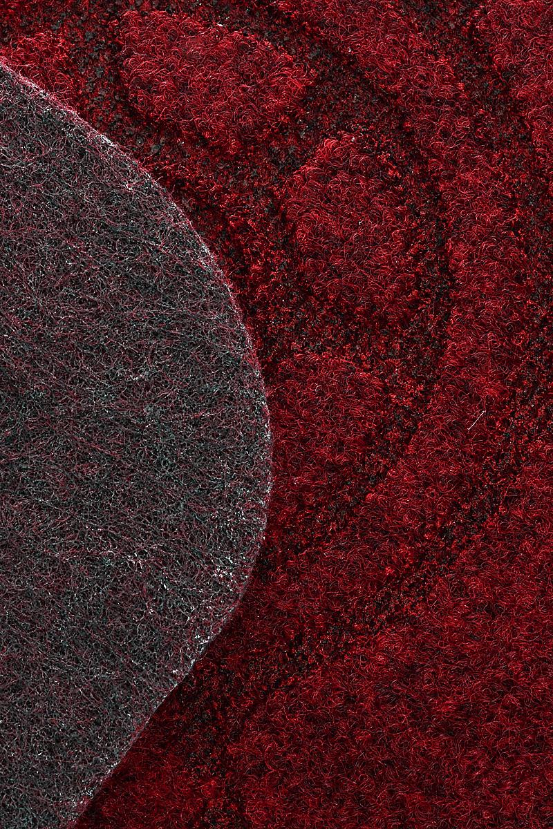 """Коврик придверный EFCO """"Оскар. Кораблик"""", цвет: бордовый, 70 х 40 см"""
