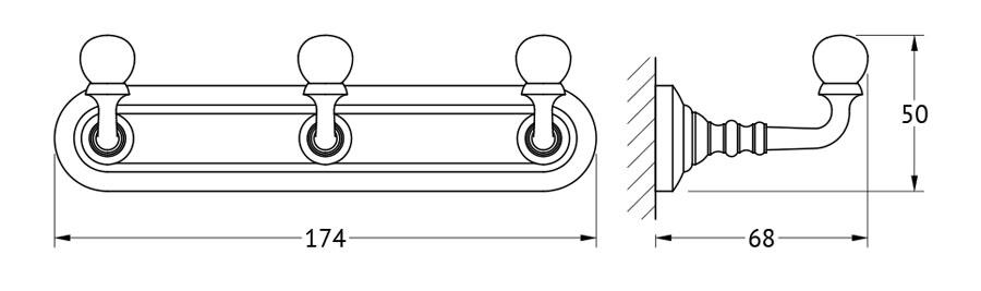 Планка с тремя крючками 3SC Stilmar, цвет: хром. STI 002STI 002Дизайн коллекций компании 3SC оригинален и узнаваем. Цель дизайнеров — находить равновесие между эстетикой и функциональностью. Это обдуманная четкая философия, которая проходит через все процессы производства мастерской региона Тоскана.Многолетний опыт, воплощение социальных и культурных традиций, а также постоянный поиск новых решений?– все это сконцентрировано в коллекциях 3SC. Особенное внимание уделяется декоративной отделке изделий, которая выполнена умелыми руками настоящих итальянских мастеров. Разнообразие стилей позволяет удовлетворить различные вкусы клиента от «классики» до «хай-тек», давая возможность гармонично сочетать аксессуары с зеркалами и освещением.
