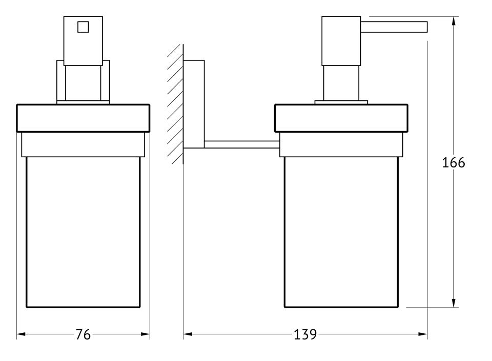 Держатель с емкостью для жидкого мыла Lineag Tiffany, цвет: хром. TIF 006TIF 006В течение 20 лет компания Lineag разрабатывает и производит эксклюзивные аксессуары для ванной комнаты, используя современные технологии и высококачественные материалы. Каждый продукт Lineag произведен исключительно в Италии. Изысканный дизайн аксессуаров Lineag создает уникальную атмосферу уюта и роскоши в вашей ванной.