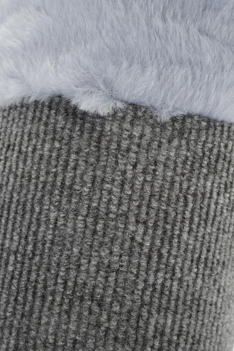 """Когтеточка настенная """"Homecat"""", полукруглая, цвет: серый, белый, коричневый, 58 х 11 см"""
