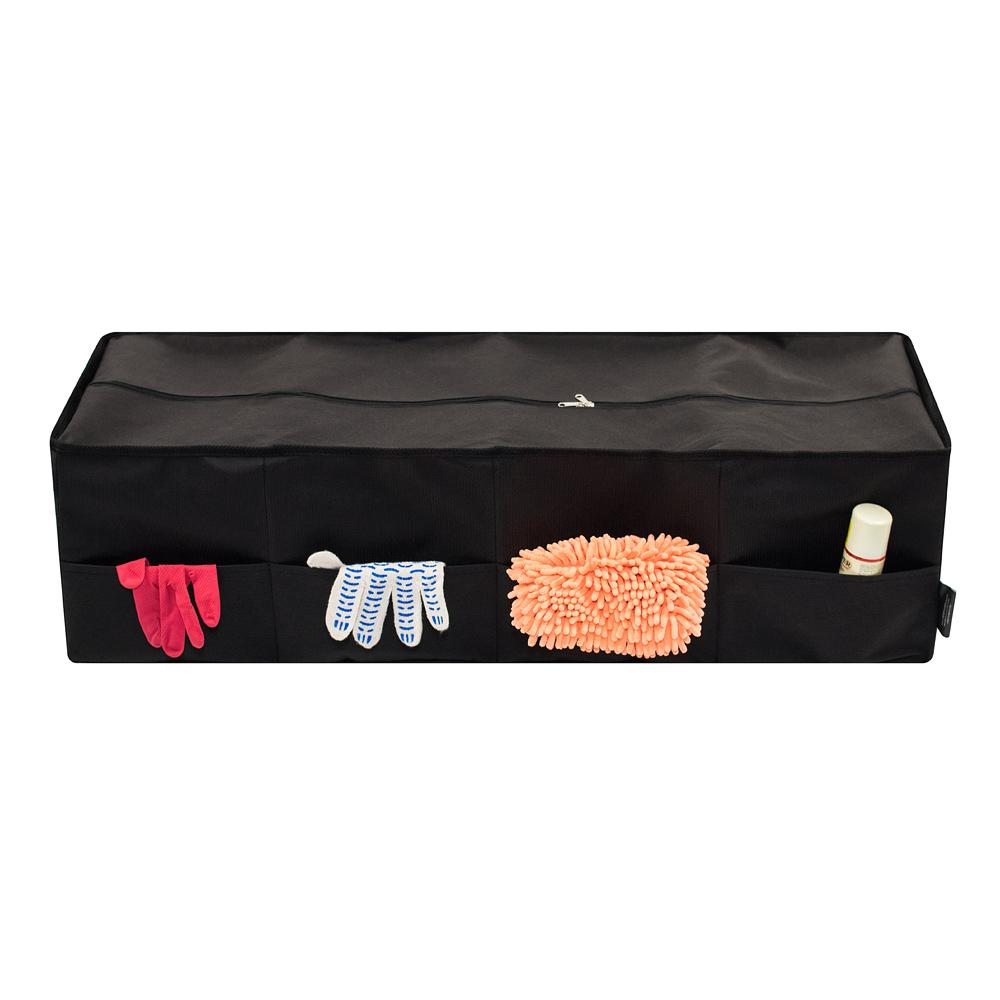Органайзер Много Везу, складной, с крышкой, четыре отделения, 100 х 34 х 28 см. М 110М 110- Четыре отделения - Объем: 95 л - Укрепленные стенки - Наружные карманы - Крышка на молнии Удобный органайзер вместит в себя все, что разложено по углам багажника. Укрепленные стенки сохранят форму органайзера даже при неполной загрузке, а крышка на молнии защитит содержимое от пыли и грязи. Лента–липучка на дне обеспечивает надежное крепление к ковровому покрытию багажника и препятствует его смещению при движении автомобиля. Размеры: длина —100 см, ширина — 34 см, высота — 28 см Материал: спанбонд (плотность 100 гр/м2) Цвет: черный