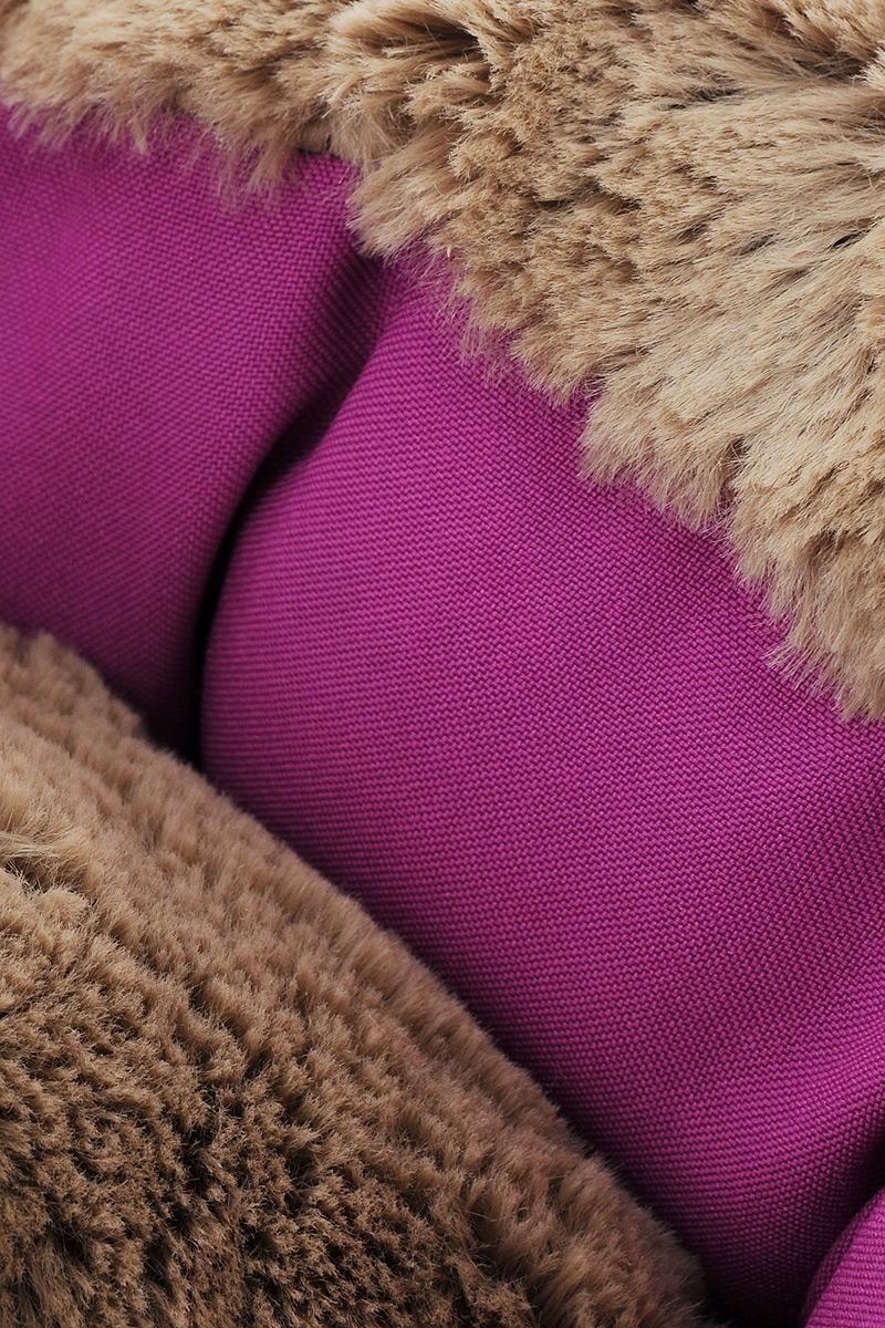 """Лежак для собак и кошек Зоогурман """"Президент"""", цвет: розовый, 45 см х 45 см х 20 см"""