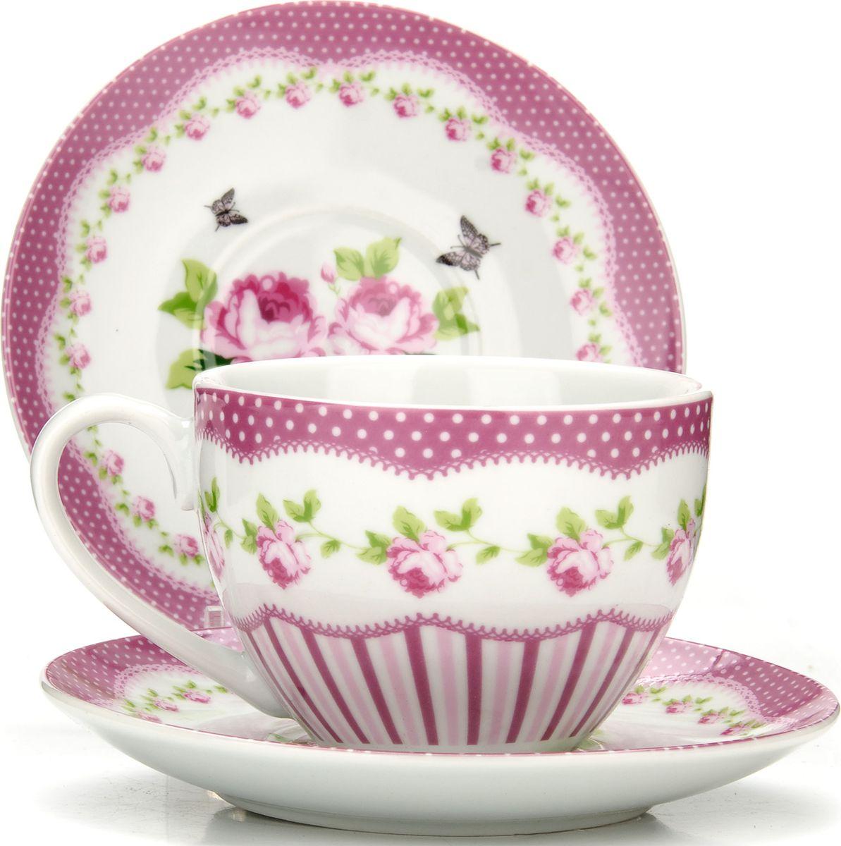 """Сервиз чайный """"Loraine"""", на подставке, 13 предметов. 43298"""