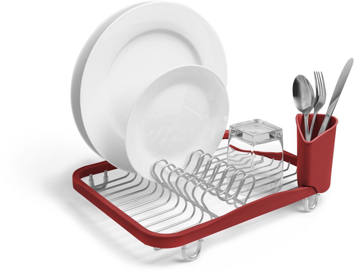 """Сушилка для посуды Umbra """"Sinkin"""", цвет: красный"""