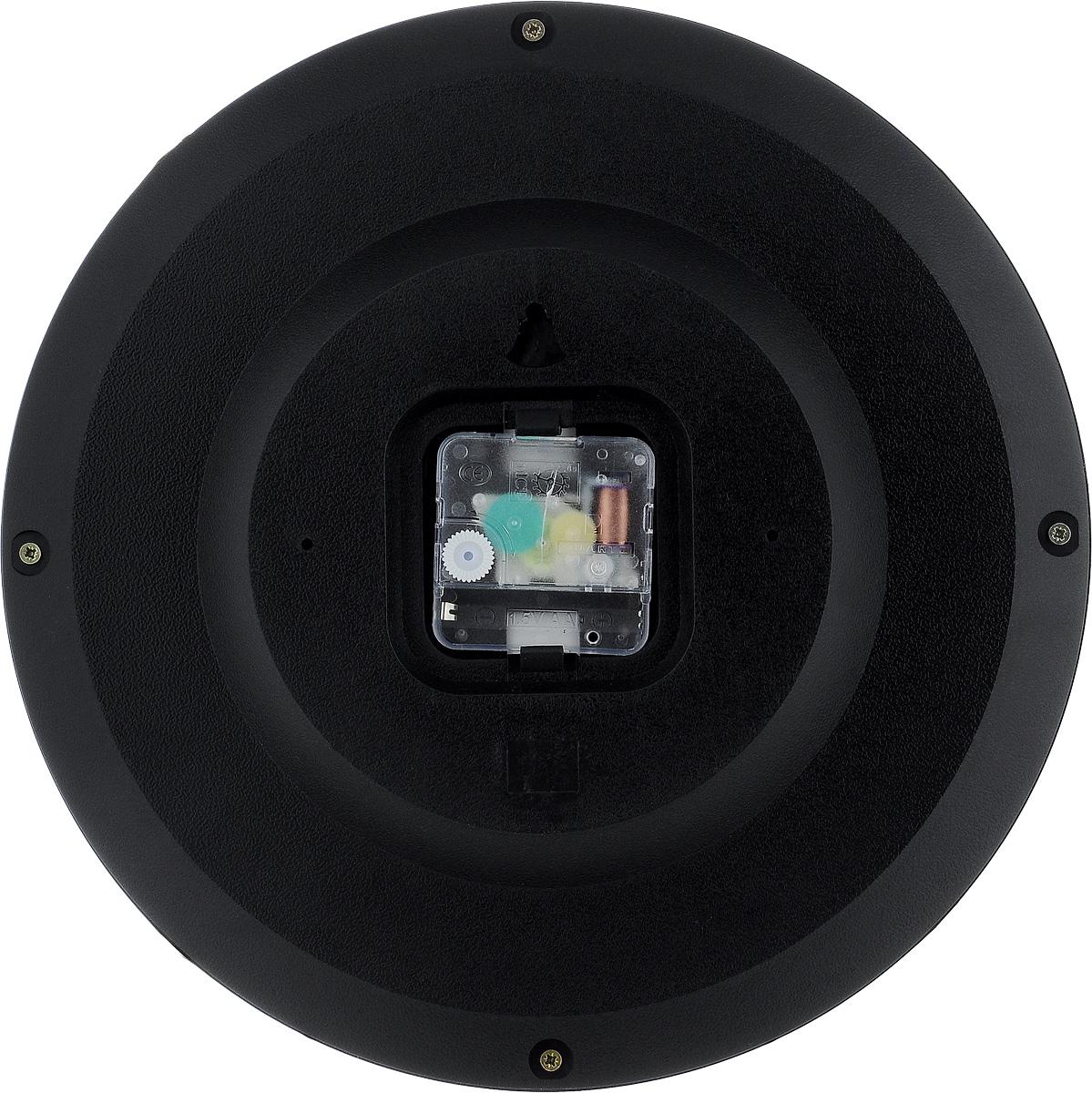 """Часы настенные Вега """"Классика"""", цвет: черный, диаметр 28,5 см. П1-6"""