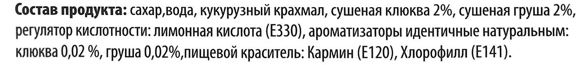 Lukeria рахат-лукум с клюквой и грушей, 100 г