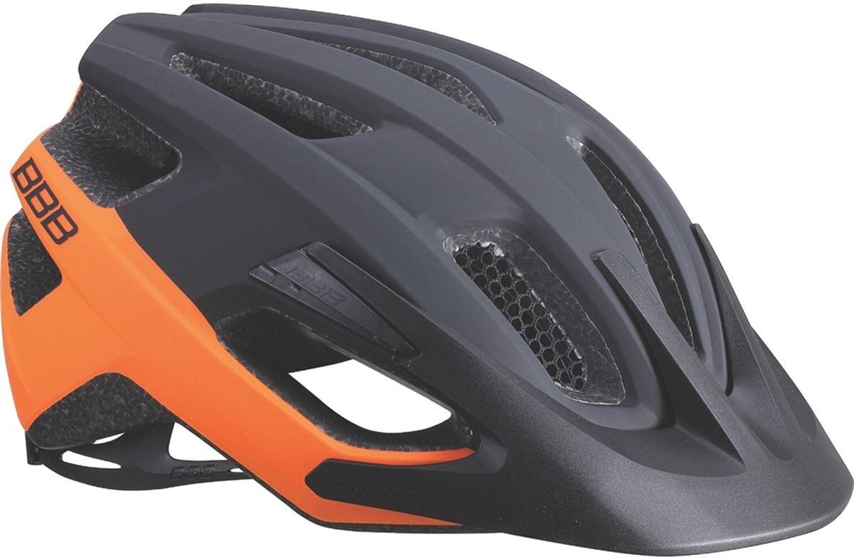 """Шлем летний BBB """"Kite"""", цвет: черный, оранжевый. Размер L"""