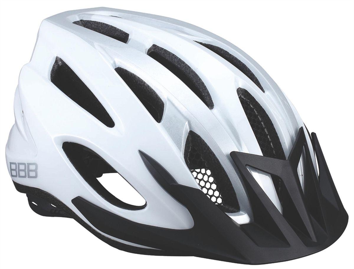 "Шлем летний BBB ""Condor"", цвет: белый, серебристый. Размер M"