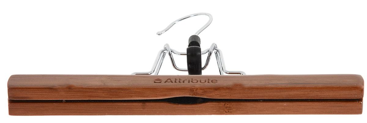 """Вешалка для брюк Attribute Hanger """"Bamboo"""", цвет: коричневый, длина 25 см"""