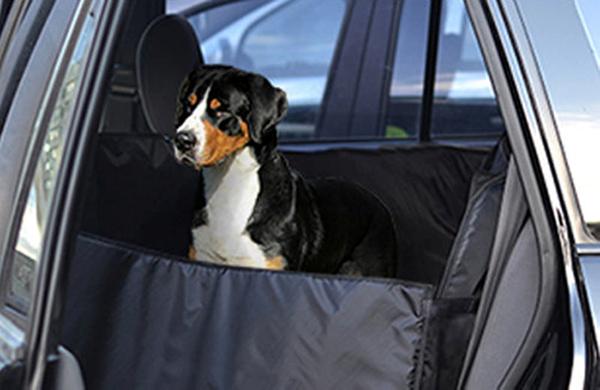 """Автогамак """"Auto premium"""" усиленный, для перевозки средних собак, с защитой дверей"""