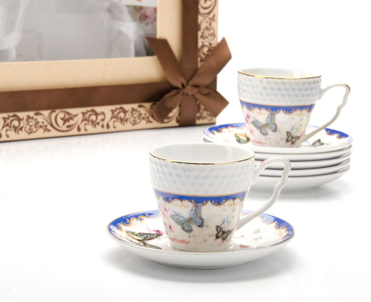 Сервиз кофейный Loraine Бабочки, 12 предметов25790